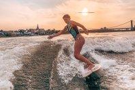 Ein Startup, das auf dem Rhein surft