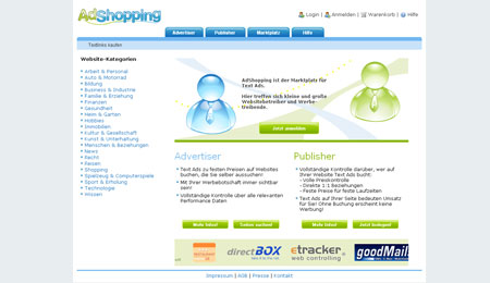 AdShopping vermarktet Textlinks