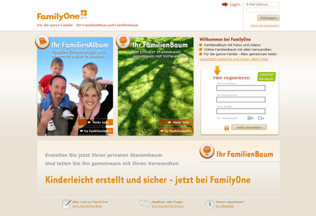 Screenshot FamilyOne