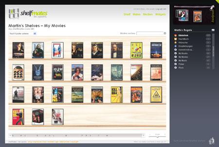 shelfmates ordnet, verwaltet und bewertet Bücher, CDs und DVDs