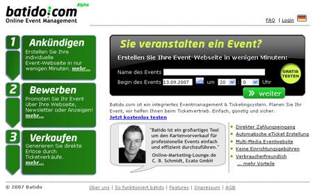 Mit batido.com kann jeder Tickets verkaufen