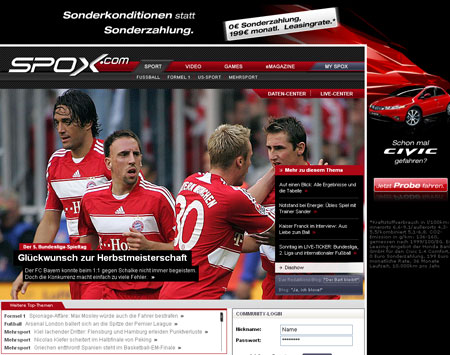 Spox.com ist online