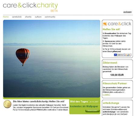 care&click sammelt Spenden