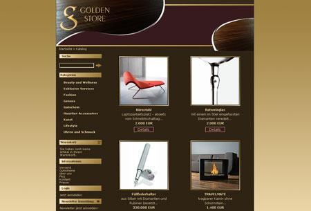 Golden Store verkauft Luxuswaren