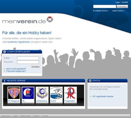 MeinVerein.de organisiert Vereine