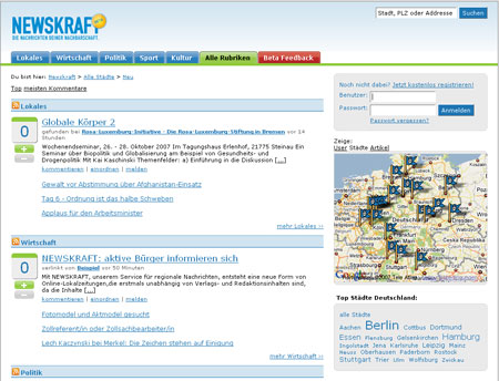 Newskraft sichtet regionale Blogs