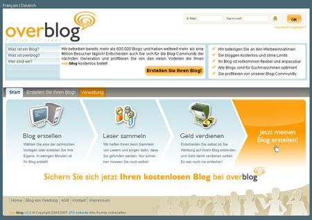 Overblog landet in Deutschland