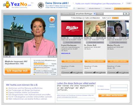 YezNo.com sorgt für Mitbestimmung