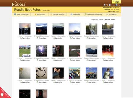 Roodle sammelt Bilder