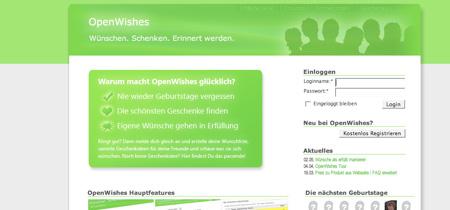 Mit OpenWishes Wünsche erfüllen