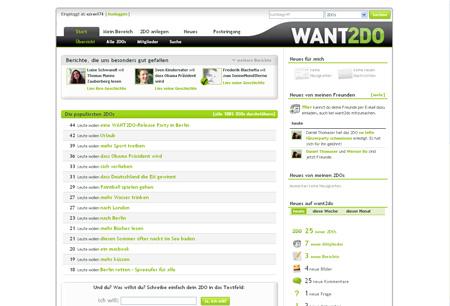 want2do verwaltet Wünsche