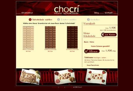 Chocri kredenzt Wunschschokolade