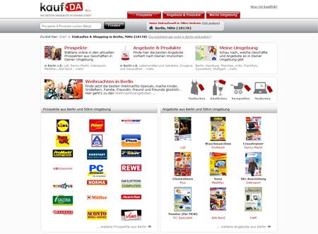 kaufDa.de informiert über Schnäppchen in der Umgebung