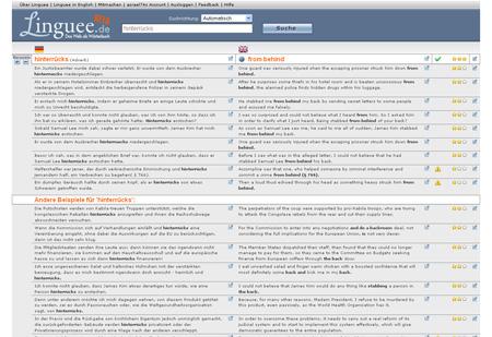 Linguee.de hilft bei Übersetzungen