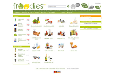 froodies.de liefert Lebensmittel