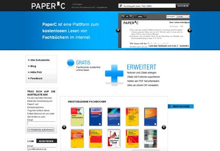 PaperC bringt teure Fachbücher und arme Studenten zusammen