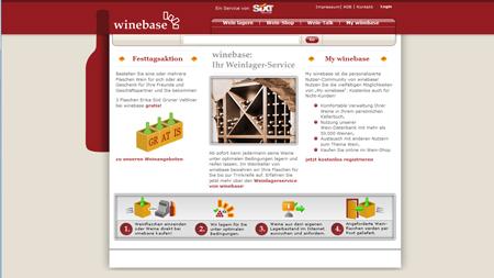 sixt lagert mit winebase Weine ein