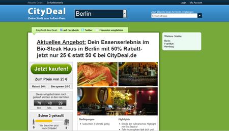 Groupon-Fieber: 4 Millionen Euro für CityDeal – cooledeals startet