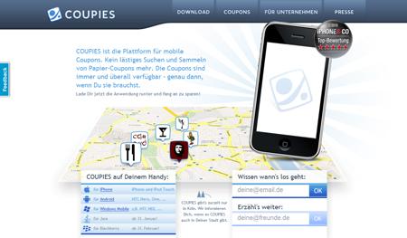 Rabattplattform Coupies setzt auf mobile Gutscheine