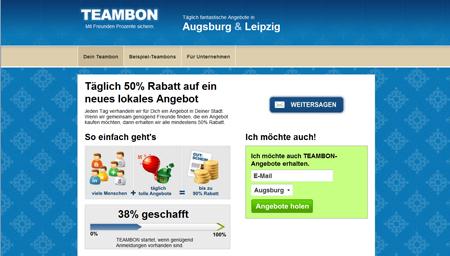 Groupon-Fieber: Teambon kommt