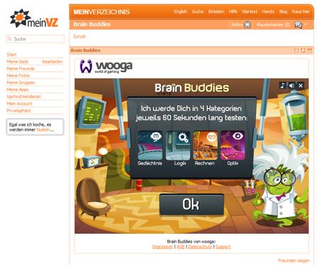 VZ-Nutzer wagen gerne ein Spielchen: 63 % aller installierten Applikationen sind Spiele