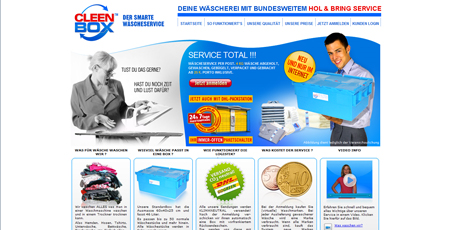 Cleenbox wäscht Schmutzwäsche