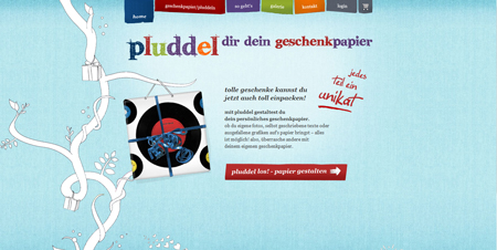 Geschenkpapier-Editor Pluddel macht Schenken noch schöner