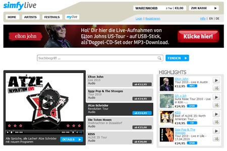 Aus Concert Online wird simfy live