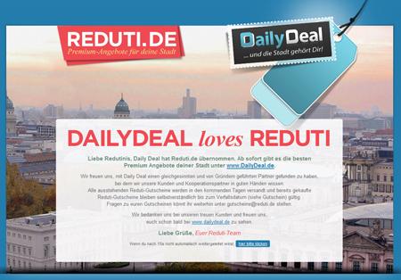 DailyDeal schluckt Reduti.de
