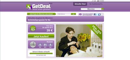Neue Rabattdienste am Start: Nachzügler GetDeal erweitert das Groupon-Konzept