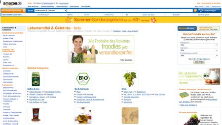 Amazon testet Lebensmittelverkauf – Start-up froodies mischt mit