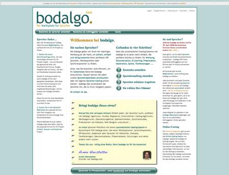 Sprecher-Markplatz bodalgo peilt Umsatz im unteren sechsstelligen Bereich an
