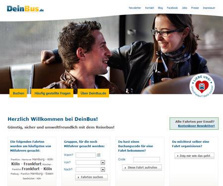 DeinBus.de macht der Deutschen Bahn Konkurrenz