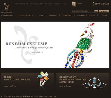 Bei Renesim.com gibt's edlen Schmuck mit individuellem Touch