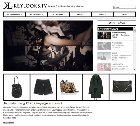 Mit Keylooks.tv bekommt Mode-Shopping ein neues Gesicht
