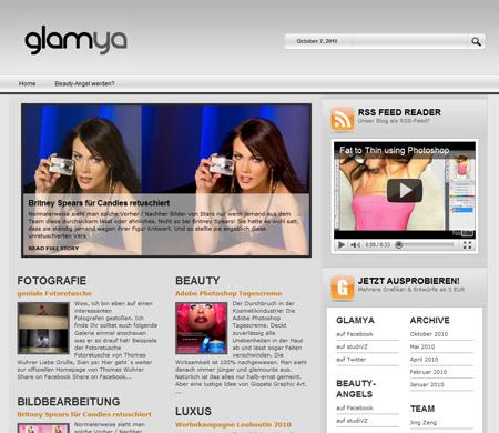 Glamya hübscht Fotos auf