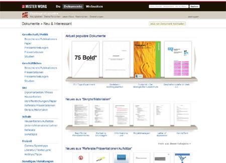 Neuer Service: Mister Wong sammelt und verwaltet jetzt auch Dokumente und Texte