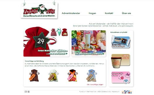 Persönliche Adventskalender: Der Adventman verschickt 24 kleine Geschenke