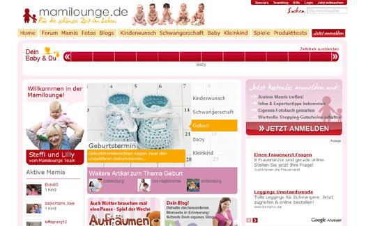 Neue Anlaufstelle für Mütter: Mit Mamilounge macht Erdbeerlounge netmoms Konkurrenz