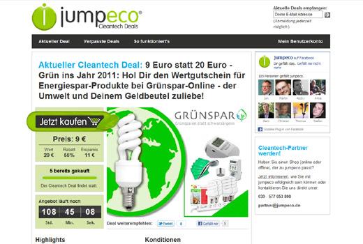 Groupon im Ökostyle: jumpeco bietet Cleantech-Deals