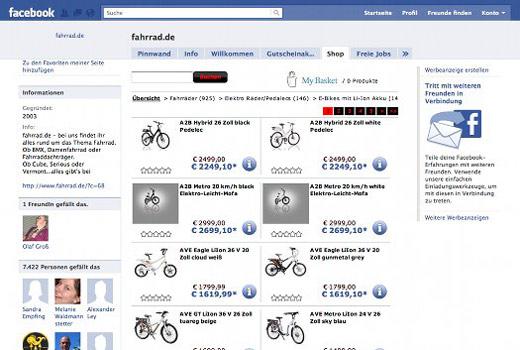 Facebook-Shop-Fahrrad.de