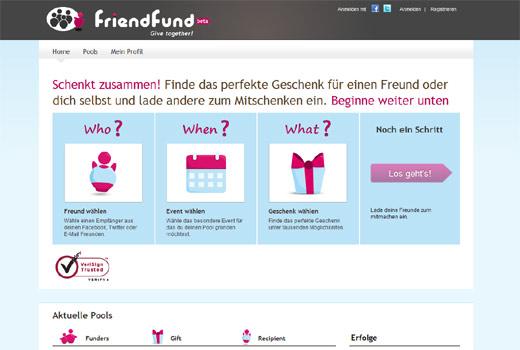 Und was schenkst DU? Friendfund organisiert Gruppen-Geschenkprozesse