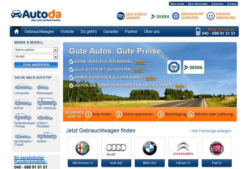 Autoda verkauft gebrauchte Fahrzeuge – Holtzbrinck bastelt an Auto-Familie