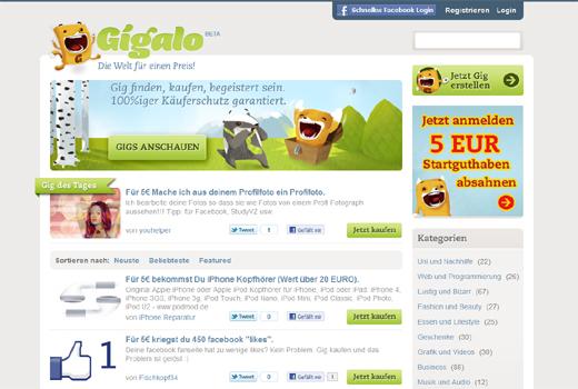Angriff der Mini-Job-Dienste: Hanse Ventures startet Gigalo, Vorbild Fiverr startet deutsche Version
