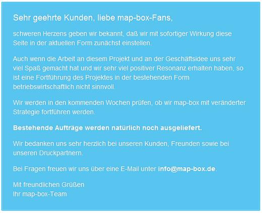 Offline! map-box druckt keine Landkarten mehr
