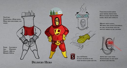 Lieferheld.de enthüllt seinen Superhelden und startet Printkampagne