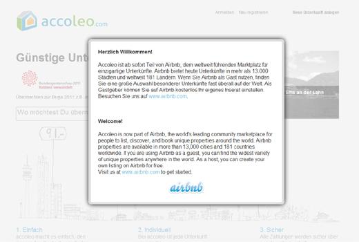Dreikampf um Deutschlands Zimmer: airbnb übernimmt den deutschen Anbieter Accoleo und eröffnet Büro in Hamburg