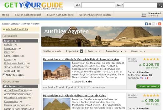 Louvre, Big Ben, Pyramiden von Gizeh: Mit GetYourGuide vorab touristische Touren buchen