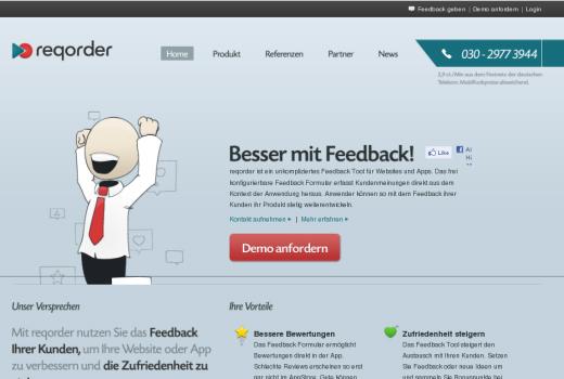 reqorder ermöglicht die Erstellung und Auswertung von Online-Feedback – HTGF unterstützt das Start-up