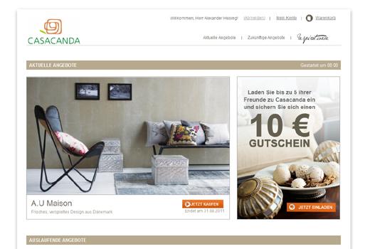 Casacanda fordert Westwing heraus. Klaus Hommels und Oliver Jung unterstützen den Shoppingclub
